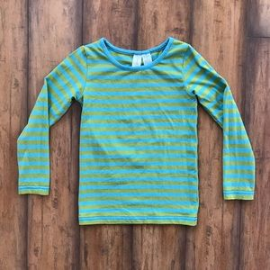 Matilda Jane Paint by Numbers Green Striped Shirt
